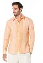 Cubavera 100% Linen Long Sleeve Embroidered Shirt
