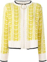 Marni intarsia knit cardigan - women - Wool - 44