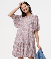 LOFT Flowerbud Button Sleeve Dress