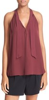 Joie Women's 'Melisent' Sleeveless Tie Neck Silk Blouse