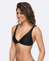 Roxy Womens Beauty 70s Fixed Halter Tri Bikini Top