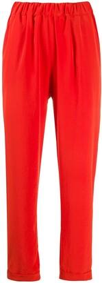 P.A.R.O.S.H. Elasticated Waist Straight-Leg Trousers