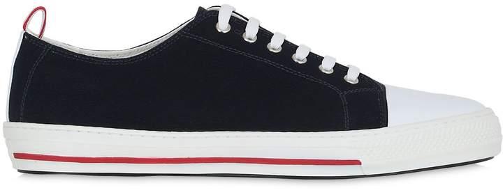 Moncler Gamme Bleu Cotton Canvas Sneakers