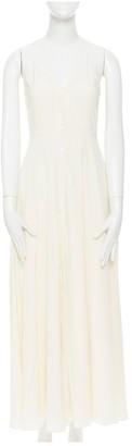 Deitas Beige Silk Dresses