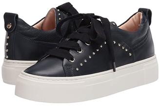AGL Gold Stud Trim Sneaker (Navy) Women's Shoes