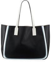 Derek Lam 10 Crosby Bond East West Tote Bag, Black/White