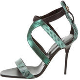 Diego Dolcini Snakeskin Multistrap Sandals w/ Tags