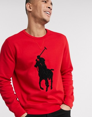 Polo Ralph Lauren sweatshirt in red with large chest pony logo