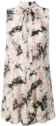 RED Valentino Flower-Print Mini Dress