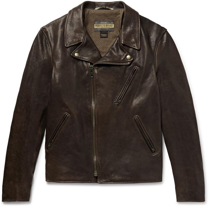 Raven Perfecto Slim Fit Leather Biker Jacket