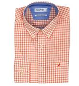 Nautica Classic Fit Wrinkle Resistant Small Check Shirt