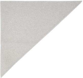 Marc Jacobs Grey Cashmere Triangle Head Scarf