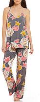 Josie Hibiscus-Print Challis Pajamas