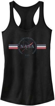 Licensed Character Juniors' NASA Red White & Blue Banner Logo Tank Top