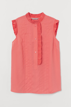 H&M Pleated Blouse - Red