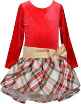 Bonnie Jean Long Sleeve Drop Waist Dress - Preschool Girls