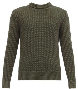 Inis Meáin Linen And Silk-blend Sweater - Dark Green