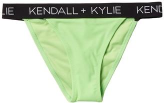 KENDALL + KYLIE Peekaboo Logo String Bikini Bottoms