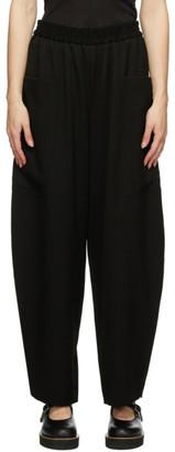 Y's Ys Black Wool N-Pocket Trousers