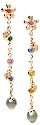 Tamara Comolli India Dream Candy 18K Rose Gold & Multi-Stone Pearl Drop Earrings
