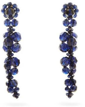 Simone Rocha Crystal-embellished Drop Earrings - Navy