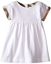 Burberry Pique Dress with Turn Back Sleeves Girl's Dress
