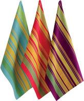 Jardin Stripe Set of 3 Dish Towels