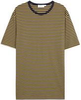 Sunspel Navy Striped Cotton T-shirt