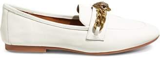 Kurt Geiger London Chelsea Chain-Trim Leather Loafers