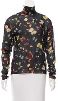 Dolce & Gabbana Sheer Butterfly Print Top