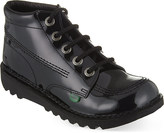Kickers Kick Hi Youth patent boots 9-11 years