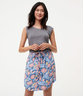LOFT Wildflower Button Down Skirt