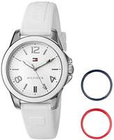 Tommy Hilfiger Women's Quartz Stainless Steel and Silicone Casual Watch, Color:White (Model: 1781680)