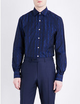 Duchamp Origami tailored-fit cotton-jacquard shirt