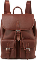 Robert Graham Johnny Pebbled Faux-Leather Backpack, Cognac