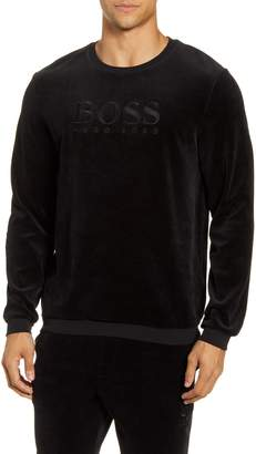 BOSS Velour Crewneck Sweatshirt