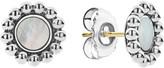 Lagos Maya Round Inlay Stud Earrings