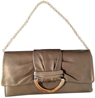Christian Dior Grey Leather Clutch bags