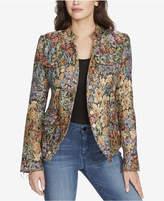 William Rast Bragg Luxe Floral-Print Jacket