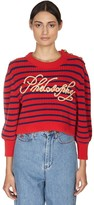 Philosophy di Lorenzo Serafini Logo Cotton Blend Knit Sweater