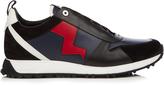 Fendi Lightning bolt-appliqué low-top leather trainers