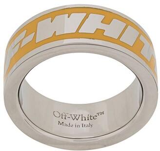 Off-White Engraved-Logo Band Ring