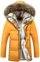 LJYH Men's Long Thicken Warm Hooded Puffer Down Jacket Winter Coat