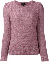 A.P.C. ribbed knitted jumper - women - Silk/Cotton - S