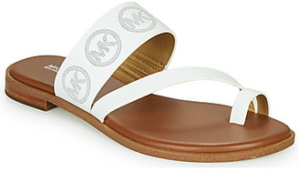 MICHAEL Michael Kors PRATT FLAT SANDAL women's Sandals in White