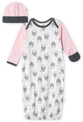 Just Born Organic Baby Girl Gown & Cap Set, 2-Piece