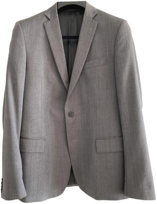 Versace Grey Wool Jackets