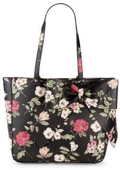 Karl Lagerfeld Paris Canelle Floral Printed Faux-Leather Bow Tote