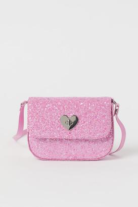 H&M Glittery Shoulder Bag - Pink