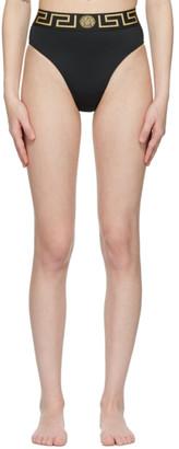 Versace Underwear Black Greca Border Bikini Bottom